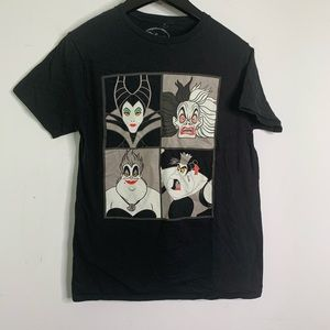 Disney Villains Black Cotton Short Sleeved T-Shirt